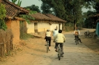 CYCLING IN VILLAGE